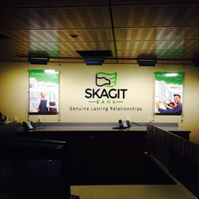 - Architectural Signage - Dimensional Lettering - Skagit Bank - Bellingham, WA