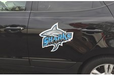 St. James High School Sharks Athletics Car Magnet